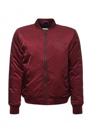 Куртка утепленная Tommy Hilfiger Denim. Цвет: бордовый