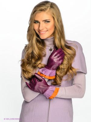 Перчатки MICHEL KATANA`. Цвет: фиолетовый, оранжевый