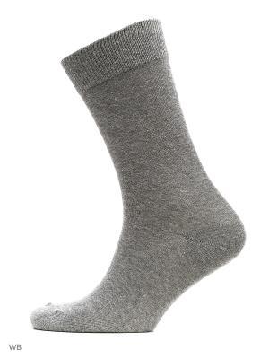 Носки 3 пары Oodji. Цвет: темно-серый