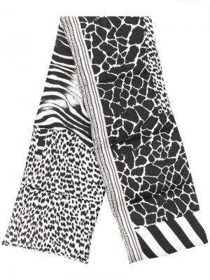 Дутый шарф с зебровым принтом Pierre-Louis Mascia. Цвет: чёрный