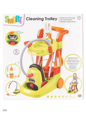 Тележка для уборки с пылесосом Smart HTI. Цвет: зеленый, красный, темно-зеленый