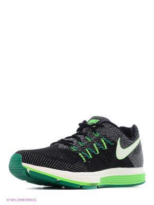 Кроссовки Nike. Цвет: черный, салатовый, белый