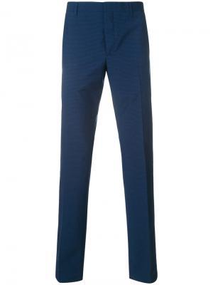 Классические брюки в клетку Prada. Цвет: синий