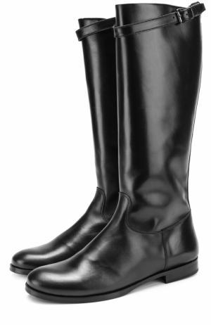 Кожаные сапоги с ремешком Gallucci. Цвет: черный