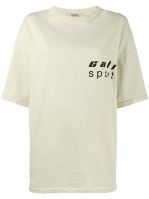 Свободная футболка с логотипом Yeezy. Цвет: телесный