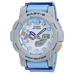 Электронные часы  Baby-g Bga-185-2a Grey/Light Blue Casio. Цвет: серый,голубой