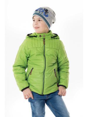 Куртка NIKASTYLE. Цвет: салатовый