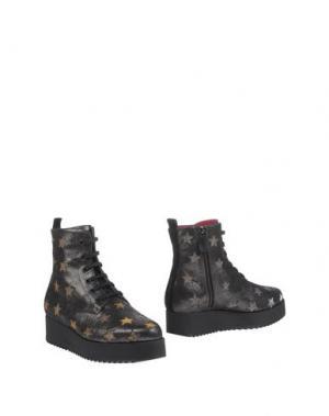 Полусапоги и высокие ботинки 181 by ALBERTO GOZZI. Цвет: стальной серый