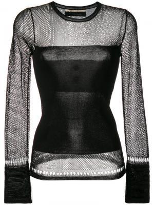 Джемпер с полупрозрачными вставками Roland Mouret. Цвет: чёрный