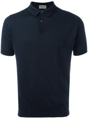 Рубашка-поло John Smedley. Цвет: синий