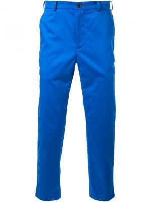Классические брюки-чинос Loveless. Цвет: синий