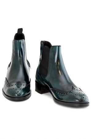 Ботинки Sutor Mantellassi. Цвет: зелёный