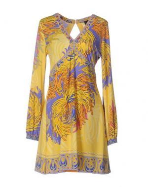 Короткое платье HALE BOB. Цвет: желтый