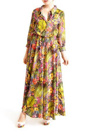 Платье MoNaMod. Цвет: зеленый