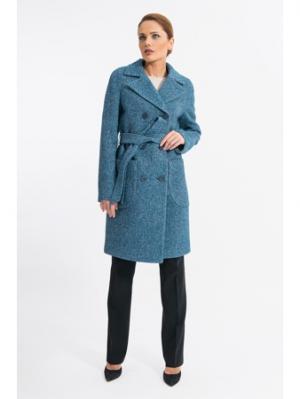 Пальто Gotti. Цвет: синий, бирюзовый