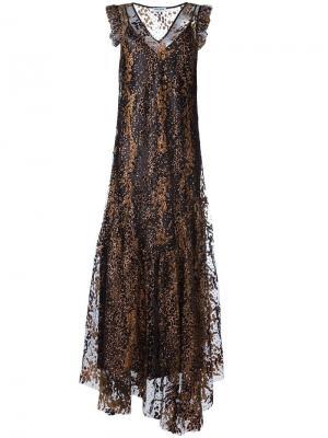 Вечернее платье с блестящей отделкой Opening Ceremony. Цвет: чёрный