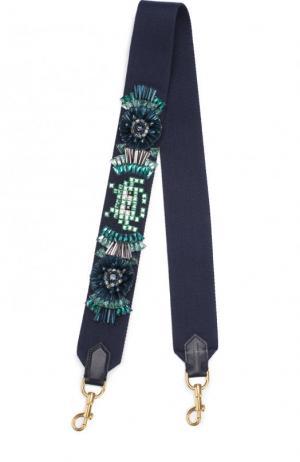 Ремень для сумки Space Invaders Anya Hindmarch. Цвет: темно-синий