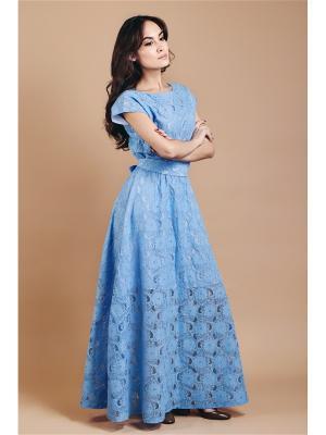 Платье в пол из кружева Welldress
