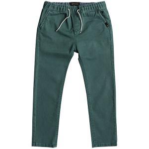 Штаны прямые детские  Krandyelasboy Mallard Green Quiksilver. Цвет: зеленый