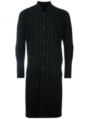 Пальто в полоску Uma Wang. Цвет: чёрный