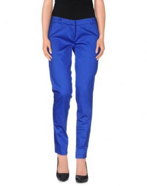 Повседневные брюки TO-MAY. Цвет: ярко-синий