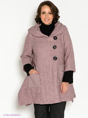Пальто Klimini. Цвет: лиловый, черный