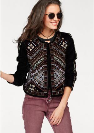 Жакет Aniston. Цвет: черный/бордовый/оливковый/цвет белой шерсти/розовый