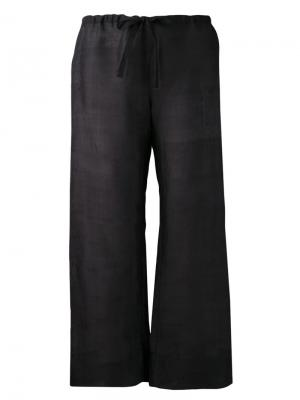 Широкие брюки Dosa. Цвет: чёрный