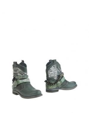 Полусапоги и высокие ботинки FABBRICA MORICHETTI. Цвет: темно-зеленый
