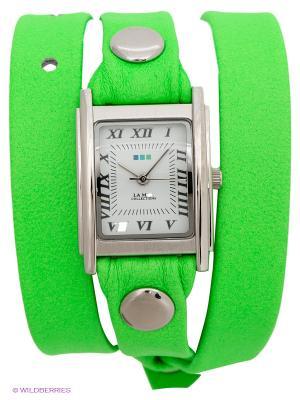 Часы La Mer Collections. Цвет: салатовый, серебристый