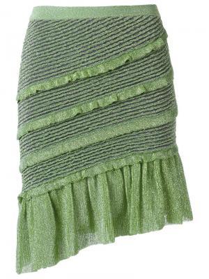 Ruffled skirt Gig. Цвет: зелёный