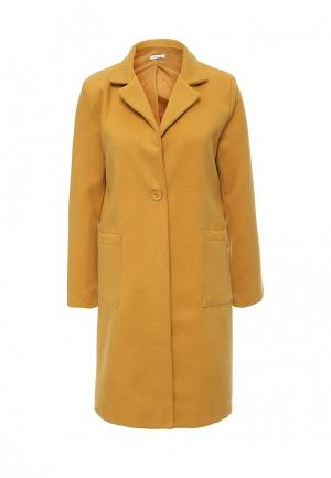 Пальто Aurora Firenze. Цвет: желтый