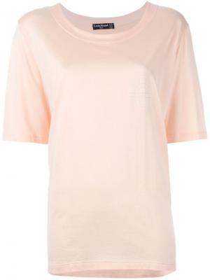 Классическая футболка Louis Feraud Vintage. Цвет: розовый и фиолетовый