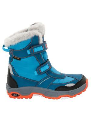 Сапоги GIRLS SNOW FLAKE TEXAPORE Jack Wolfskin. Цвет: светло-голубой