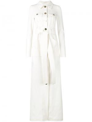 Платье Monalina Talbot Runhof. Цвет: белый