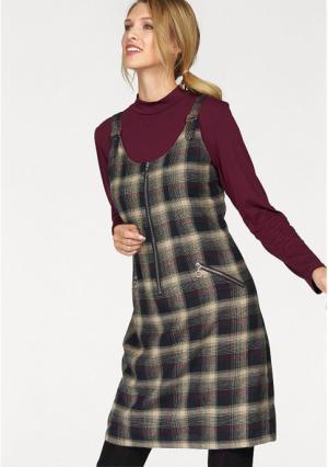 Платье CHEER. Цвет: черный/телесный/бордовый