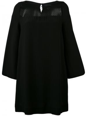 Платье с сетчатой вставкой Vanessa Seward. Цвет: чёрный