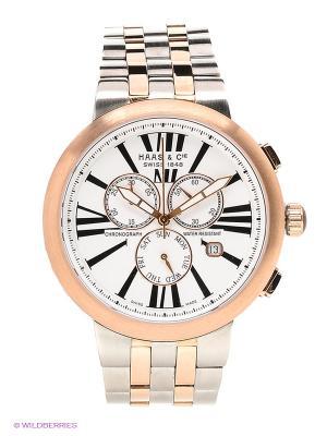 Часы HAAS & Cie. Цвет: белый, серебристый, золотистый