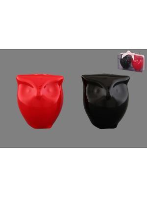 Набор для специй Совы - красно-черные Elan Gallery. Цвет: красный, черный