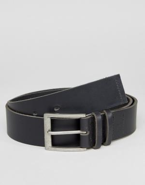 Systvm Черный кожаный ремень для джинсов. Цвет: черный