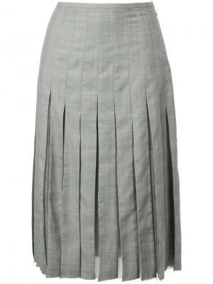 Плиссированная юбка-миди Gabriela Hearst. Цвет: чёрный