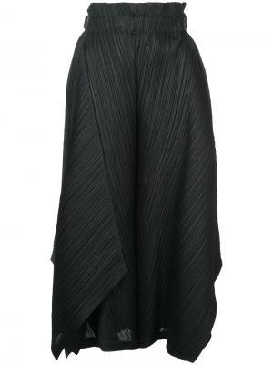 Расклешенные плиссированные брюки Pleats Please By Issey Miyake. Цвет: чёрный