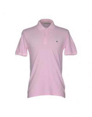 Поло BROOKSFIELD. Цвет: розовый
