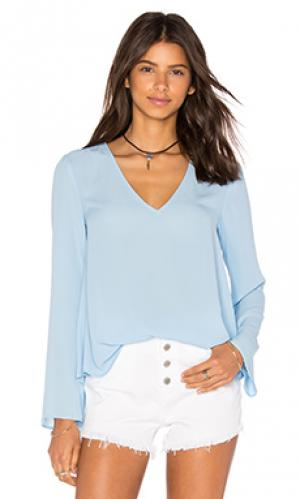 Блузка long sleeve v neck Eight Sixty. Цвет: синий