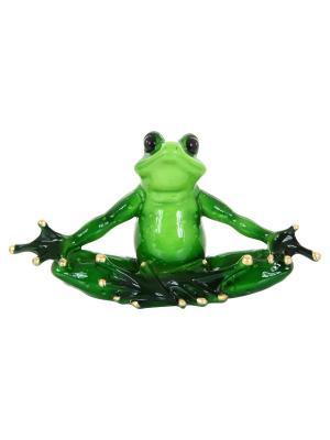 Фигурка декоративная Лягушка в позе лотоса Elan Gallery. Цвет: зеленый