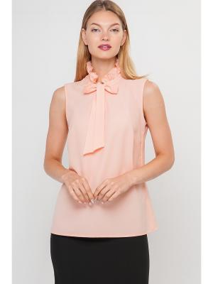 Блузка Limonti. Цвет: бледно-розовый