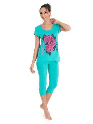 Пижама Tenerezza. Цвет: зеленый