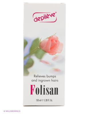 Лосьон против вросших волос FOLISAN Depileve, 150 мл. Depileve. Цвет: белый