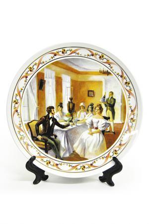 Тарелка настенная А.С. Пушкин Федерация. Цвет: белый, коричневый