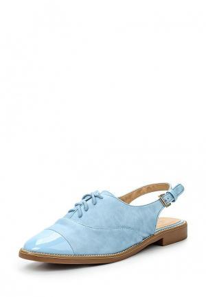 Сандалии Catisa. Цвет: голубой